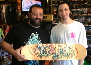 Left: Michael Medvinsky Right: Evan Guzman, Artist, aka. Xillix