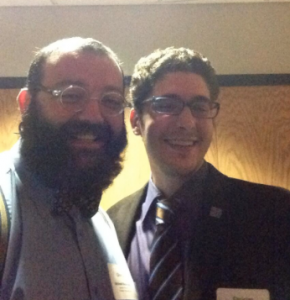 Me and Chris Woodside at PMEA District 7 Conference. Photo by me.